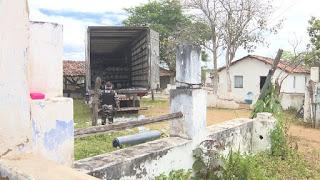 No interior de Campina Grande, polícia prende grupo com caminhões e carga de tecido roubada