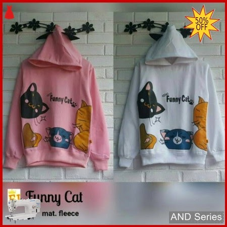 AND299 Sweater Wanita Funny Cats Murah BMGShop