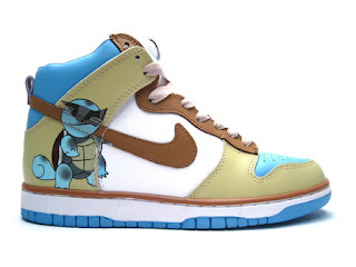 c340082dc77b High Tops Nike SB Dunk   Pokemon Shoes - Squirtle Nike Dunk SB Hi ...