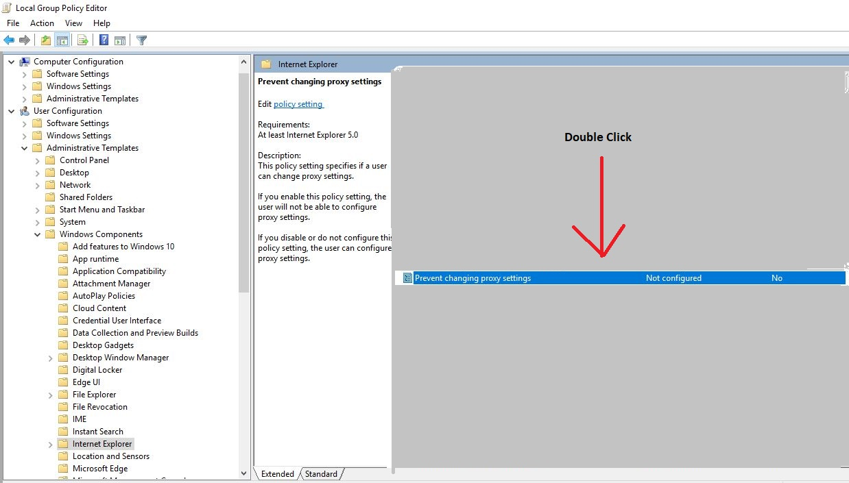 Amit blogs: How to Disable Proxy Settings using Group Policy