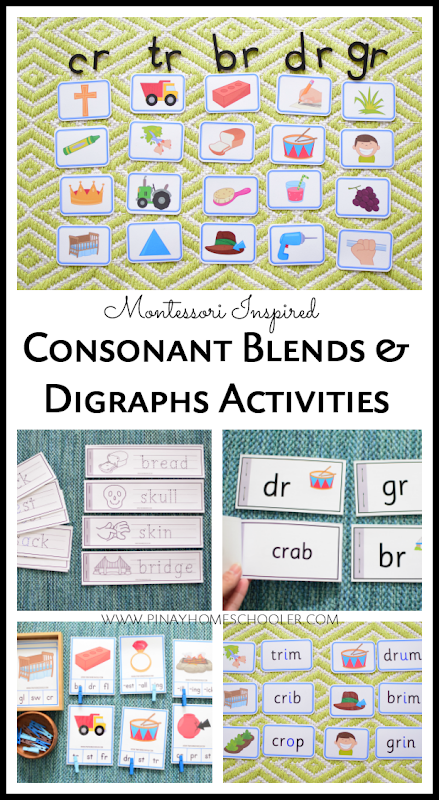Montessori Inspired Blue Series - Learning about Consonant Blends