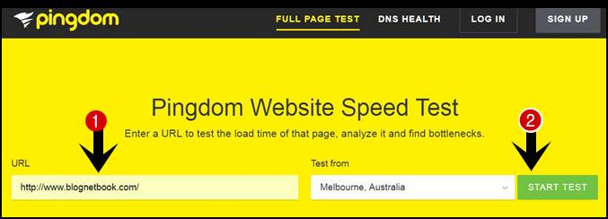 website speed checker pindom tools