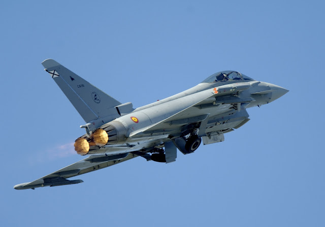 Eurofighter Typhoon crash in Spain