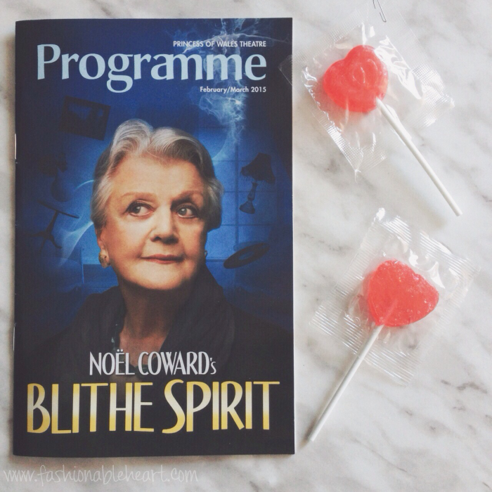 blithe spirit angela lansbury broadway play review