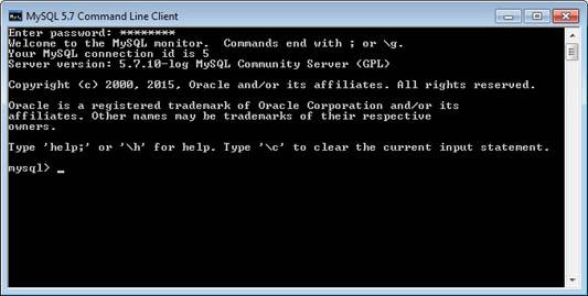 mysql 5.7 command line client