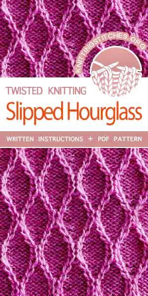 Knitting Stitches -- Twisted Knitting Patterns. Free Knitting Pattern.
