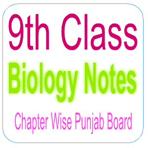 Chapter Wise Notes of Biology Punjab Board Pakistan