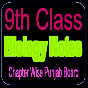 9th Class Biology Notes Punjab Board - Easy MCQs