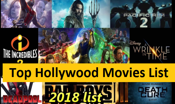 hollywood movies 2018 list best