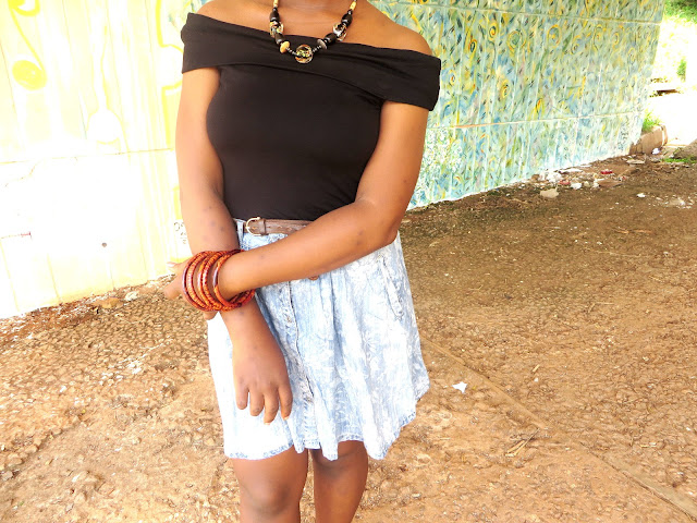 african jewellery, jewelleries, denim mini skirt