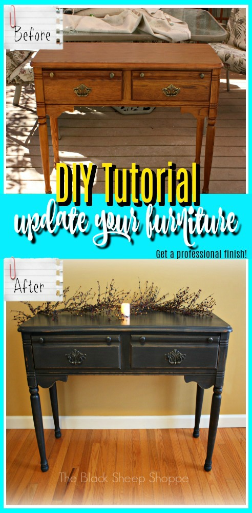 Tutorial How to get a professional finish with chalk paint.