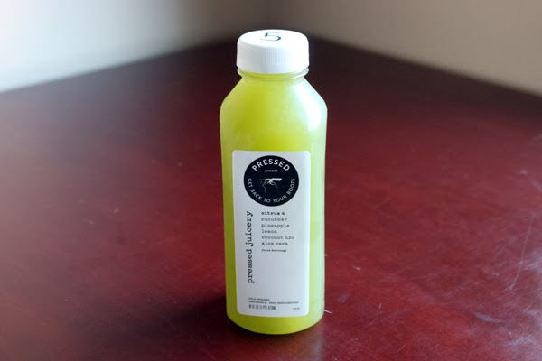 Pressed Juicery Citrus 4: Cucumber, pineapple, lemon, coconut water & aloe vera
