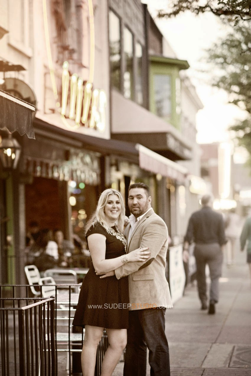 Downtown Royal Oak Engagement Pictures - Sudeep Studio.com