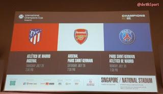 Jadwal Tur Pramusim ICC 2018 Arsenal di Singapura