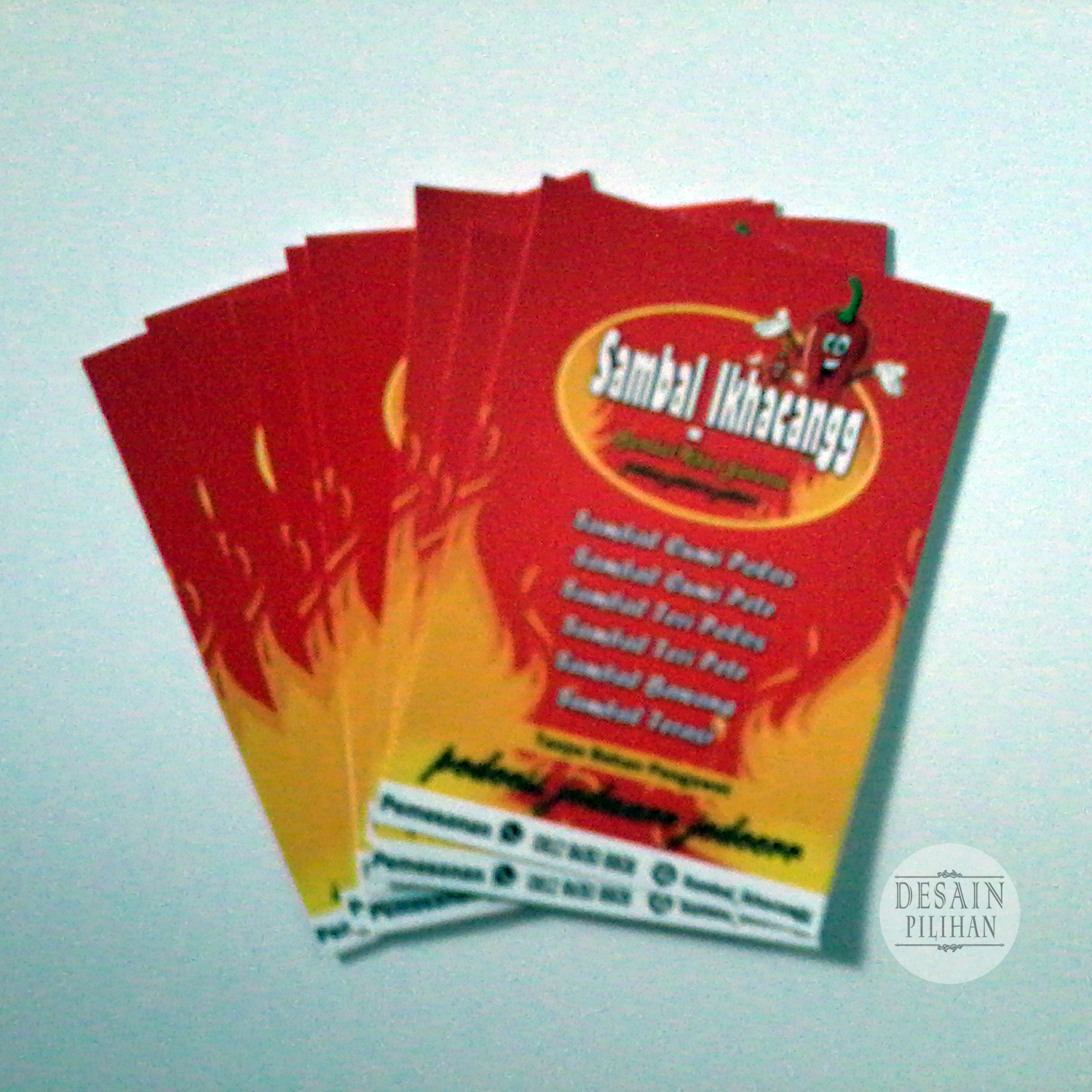 LABEL HANG TAG, LABEL HANG TAG PRODUK MAKANAN SAMBAL IKHACANGG
