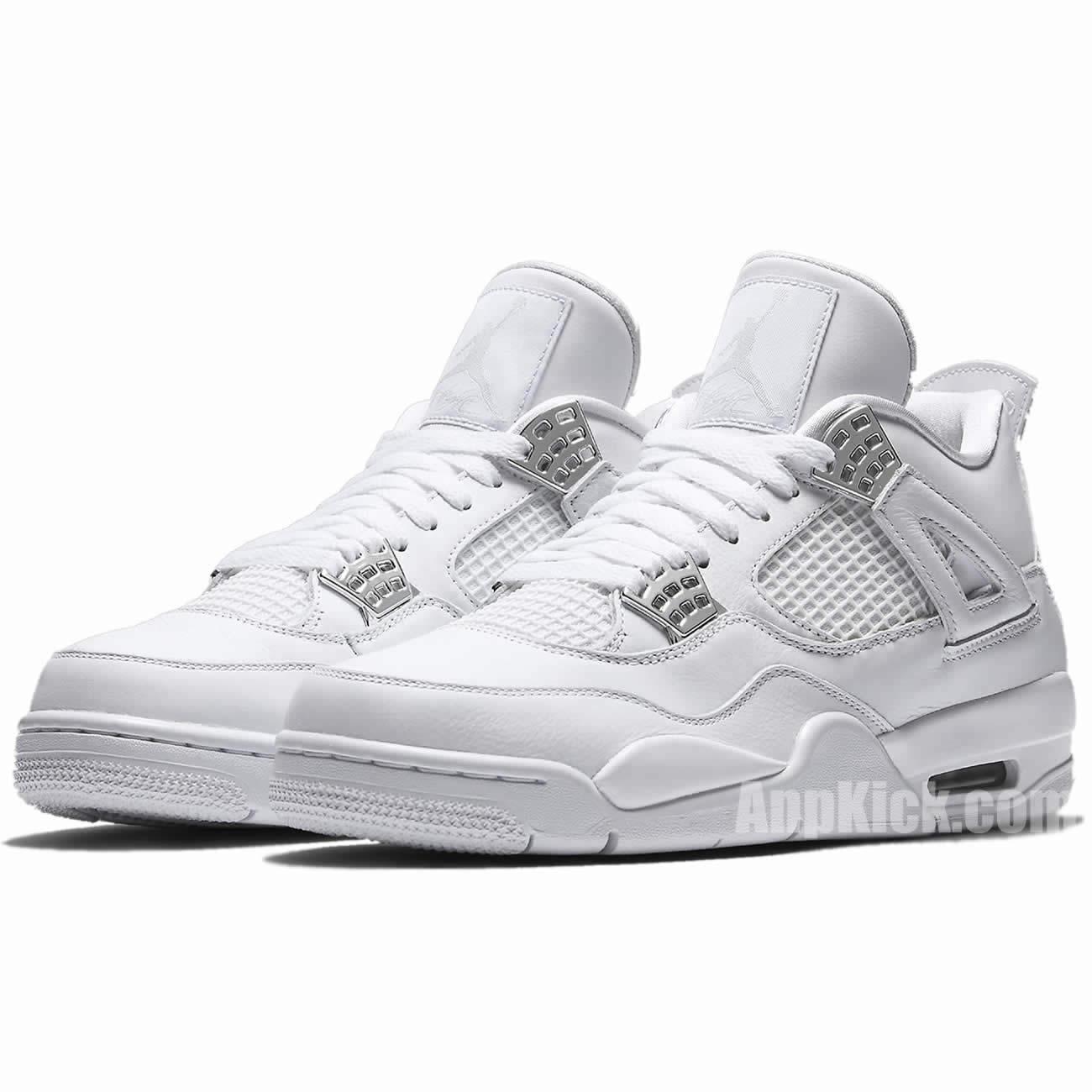 1d315d51d7b Air Jordan 4 All White/Silver