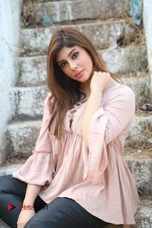 Telugu Actress Aditi Singh Stills in Leather Pants at Nenu Kidnap Iyanu Movie Press Meet  0177.JPG