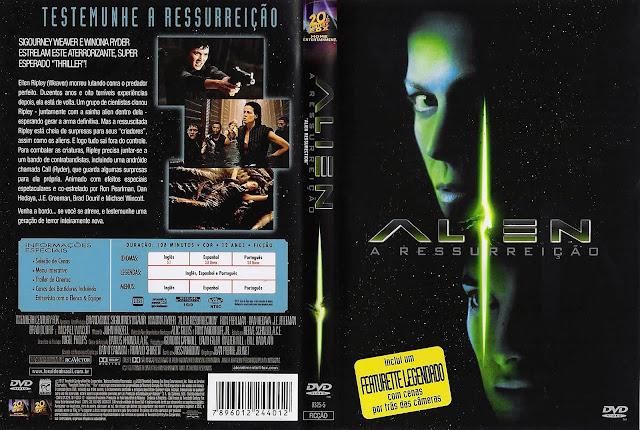 Capa DVD Alien A Ressurreiçao