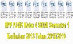 RPP PJOK Kelas 4 SD/MI Semester 1 Kurikulum 2013 Tahun 2018/2019 - Guru Krebet 3