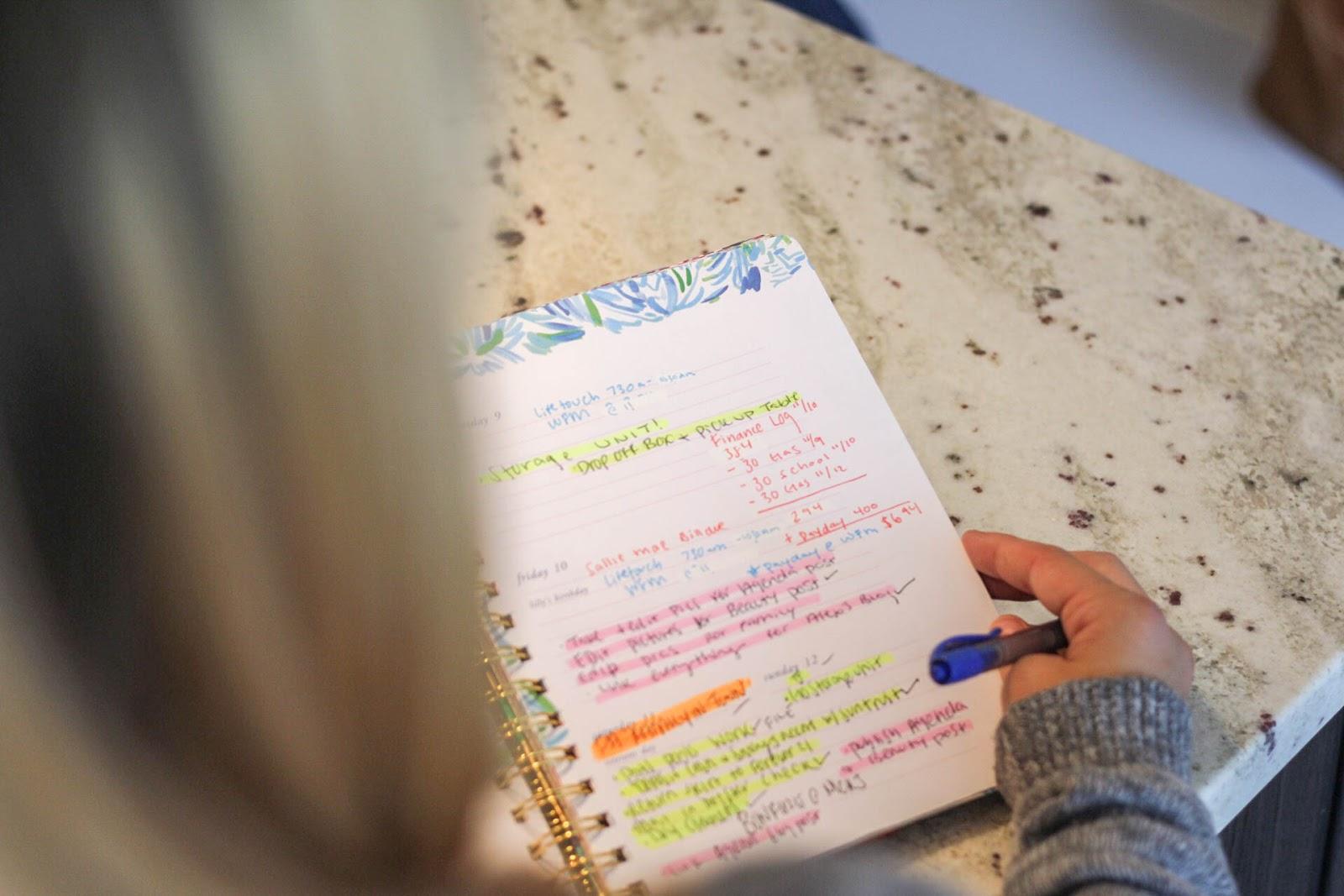 How I Organize My Agenda