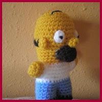 Mini Homer amigurumi