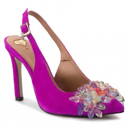 Sandale fuchisa elegante de ocazii cu accesoriu pretios R.POLAŃSKI