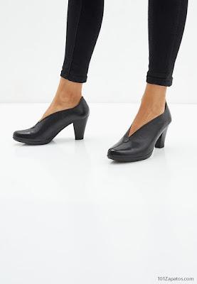 Zapatos de Tacón Ancho