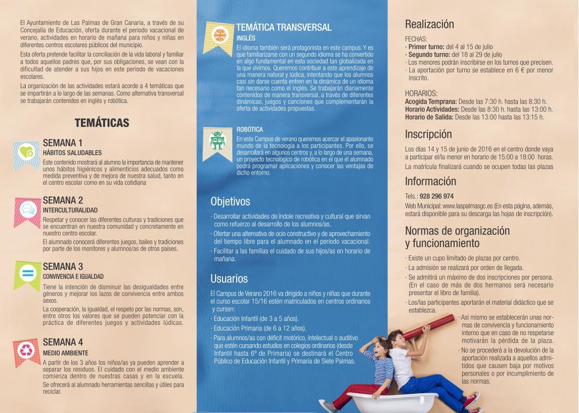 Campus De Verano Para 1 200 Ninos En Las Palmas De Gran Canaria