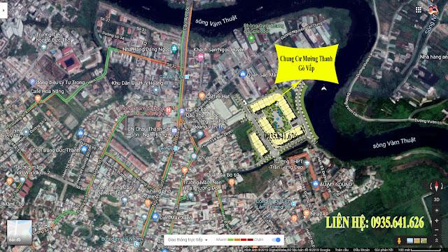 Vị trí dự án Mường Thanh Gò Vấp Qua Google Map