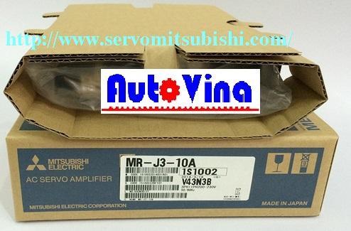 Tổng đại lý phân phối động cơ, bộ điều khiển AC Servo 0.1kW MR-J3-10A Mitsubishi, động cơ Motor HF-MP13, HF-KP13, HF-MP053, HF-KP053