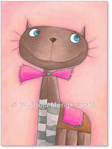 Kinderzimmer Bild: Katze Candy Cat