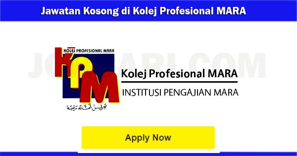 Jawatan Kosong di Kolej Profesional MARA 2017