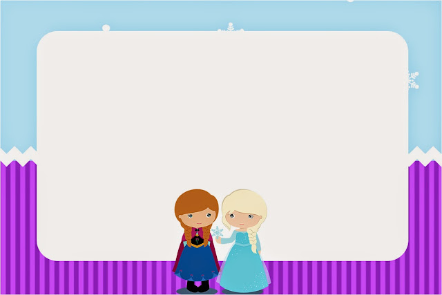 Para hacer invitaciones, tarjetas, marcos de fotos o etiquetas, para imprimir gratis de Frozen Niñas en Navidad.