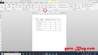 Mengubah Ukuran Baris dan Kolom di Microsoft Word 2013 - garo-Blog.com