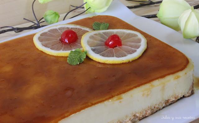 Tarta de limón fría. Julia y sus recetas