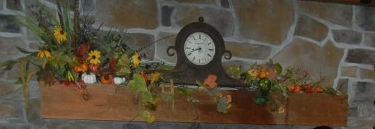 rustic autumn mantle decorations