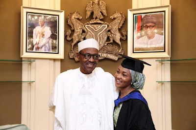 Pres. Buhari celebrated his children in the State House, Abuja 666