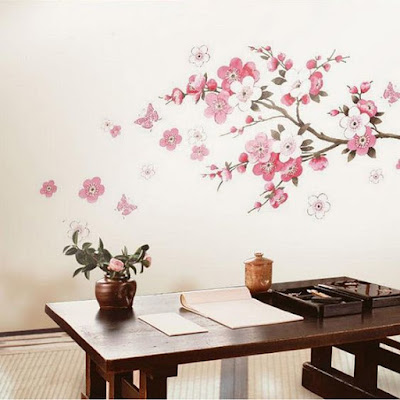 Pink Flower Wall Stickers