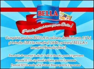 regulament castigatori concurs Prinde gustul vacantei cu Bella