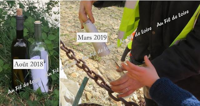 Une bouteille à la Loire ... Message in a bottle