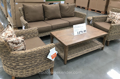 Lounge outside with the Brown Jordan Studio 6 Piece Deep Seating Set