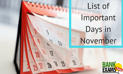 List of Important Days in November