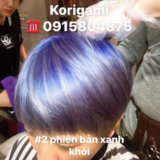 Vua tóc ngắn Korigami cắt cực chất nhuộm tím Lavender xinh muốn ngất