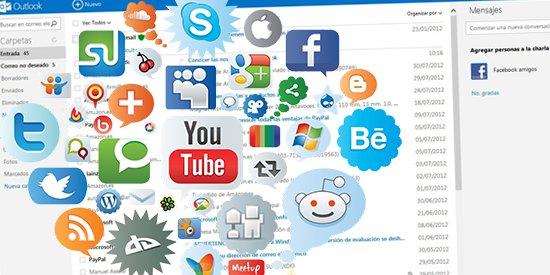 Outlook.com para manejar tus redes sociales
