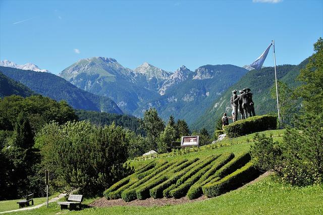 Garden at Lake Bohinj Slovenia