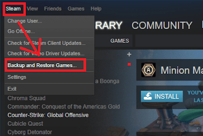 Cara Restore Game Steam