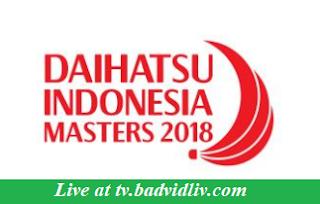 Daihatsu Indonesia Masters 2018 live streaming and videos