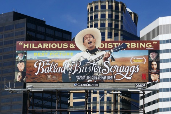 Ballad of Buster Scruggs For consideration billboard