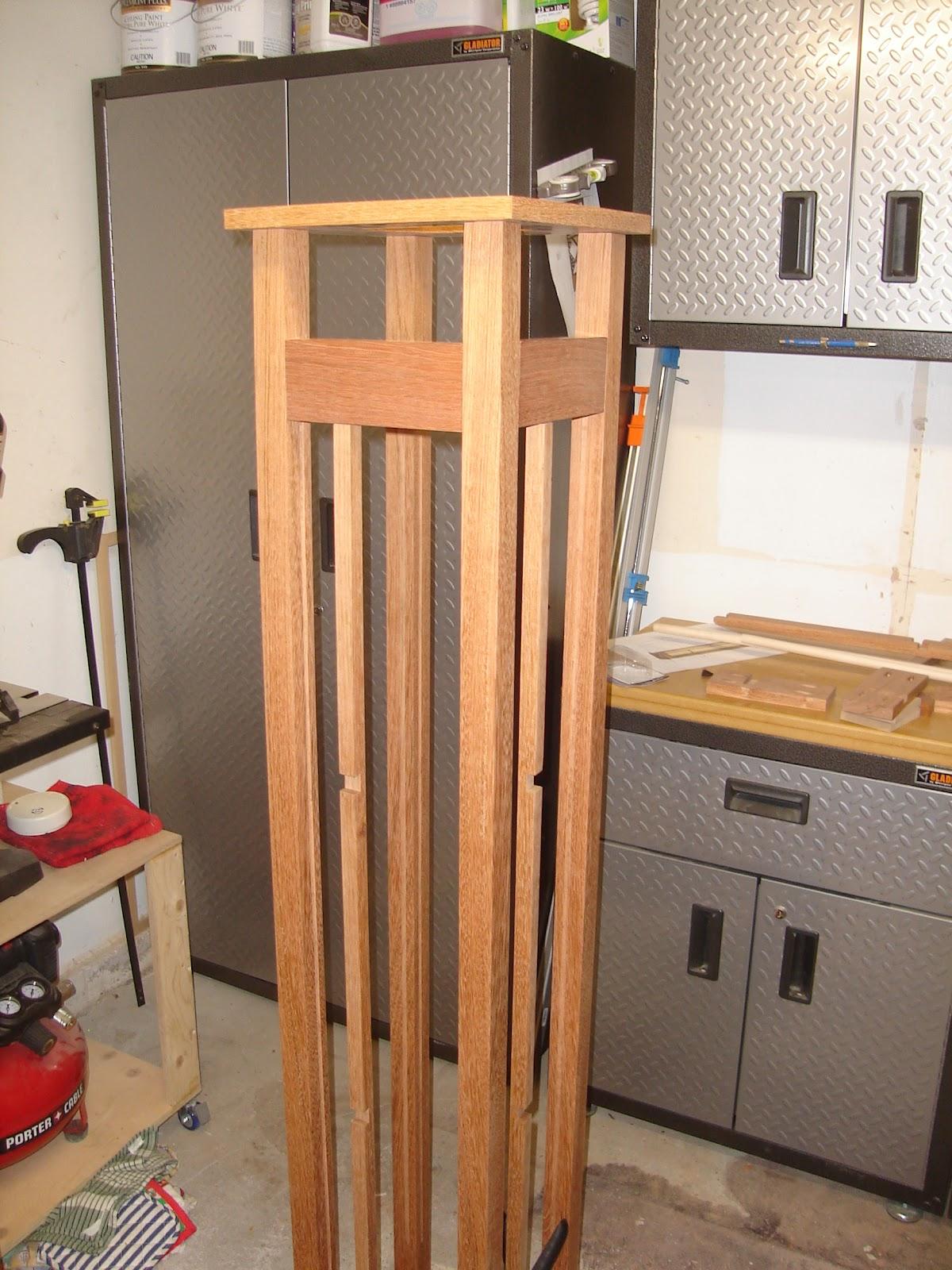 G's Wood Shop: Japanese Floor Lamp- Dry Fit (JFL7)