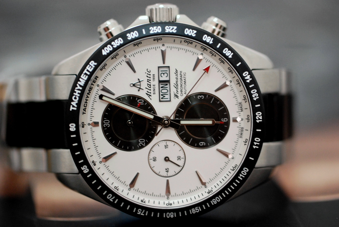 NEW AUTHENTIC SWISS MADE ATLANTIC WORLDMASTER. Automatic Chronograph Mens  Watch 1eab301bdd